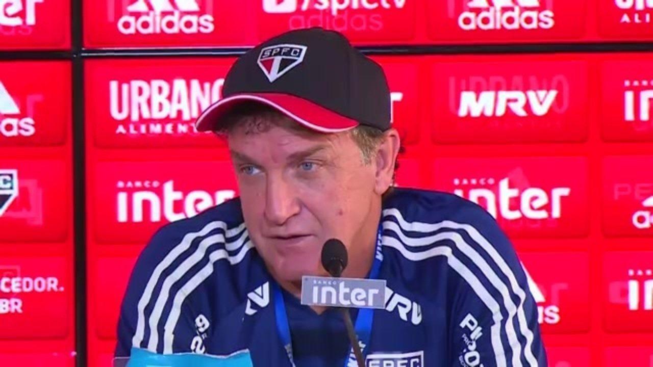 Veja a entrevista coletiva de Cuca antes de sua primeira final pelo São Paulo