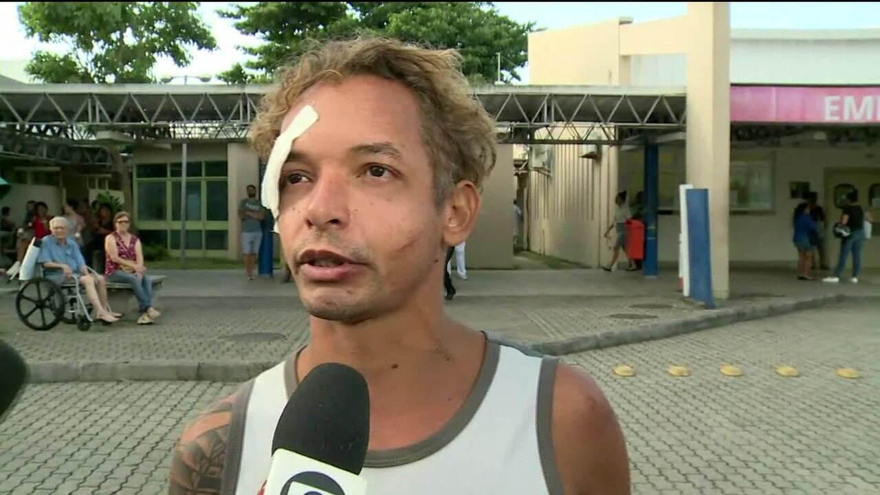 'Eu corri e fiquei preso entre uma coluna e a parede', diz sobrevivente de desabamento