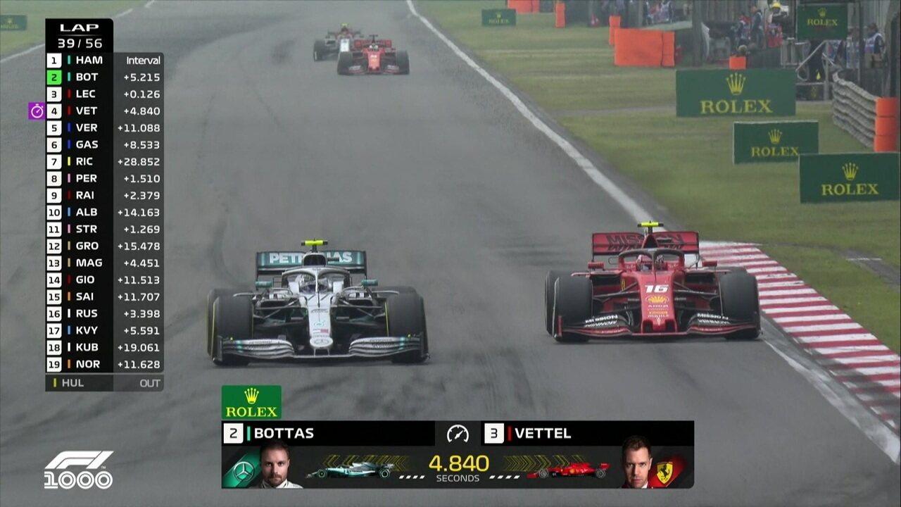 Valteri Bottas ultrapassa Leclerc e assume a segunda colocação