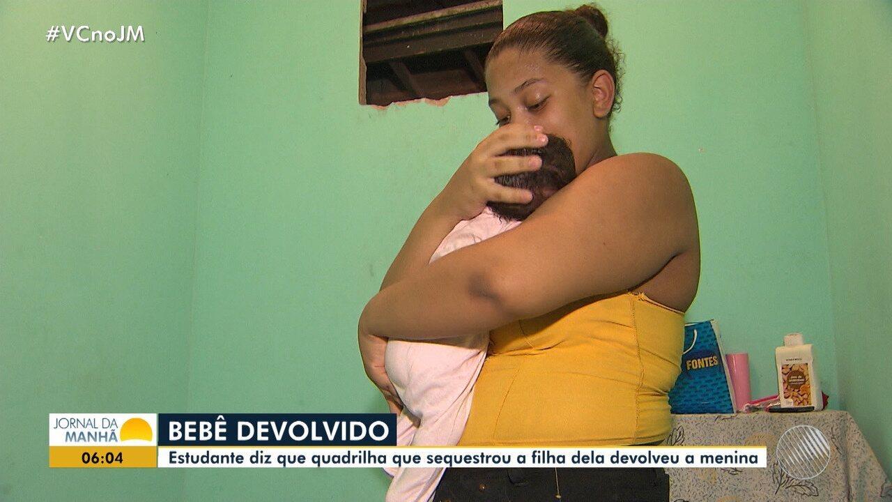 Bandidos devolvem bebê após sequestro, afirma jovem na capital