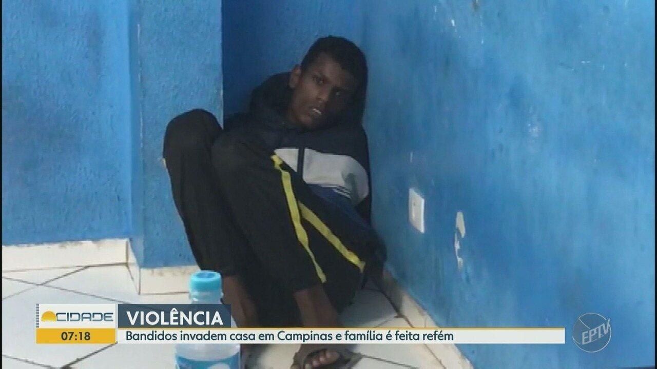 Criminosos invadem casa em Campinas e família é feita refém