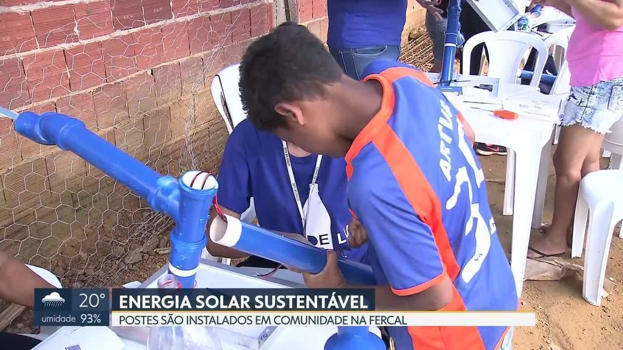 Morro do Piauí, na Fercal, ganha postes de energia solar