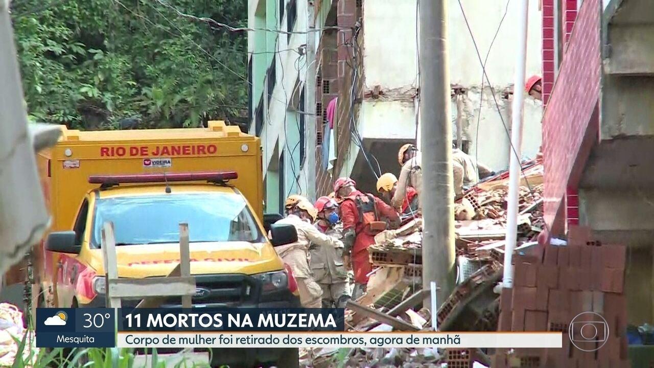 Sobe para 11 o número de mortos no desabamento de prédios na Muzema