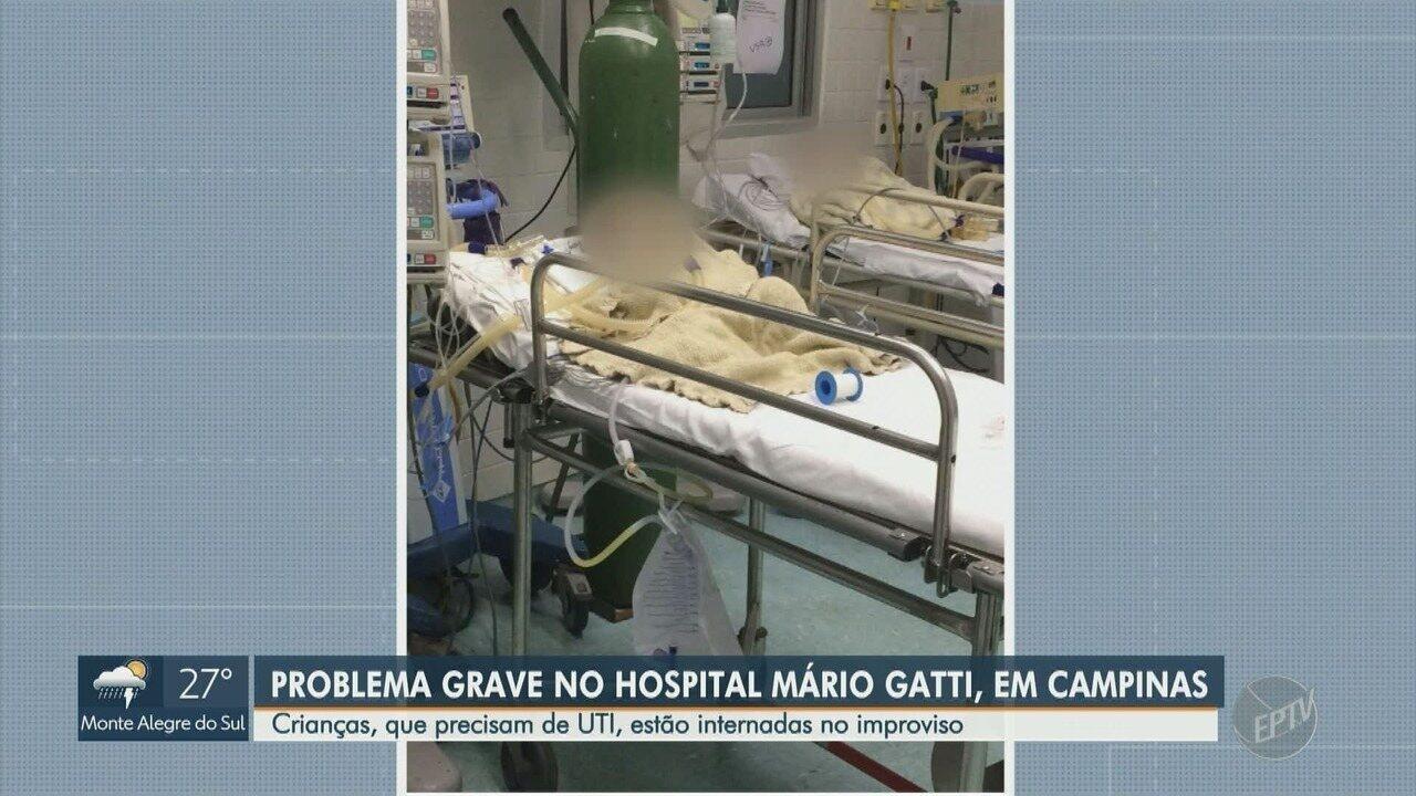 Crianças que precisam de UTI recebem atendimento improvisado no Hospital Mario Gatti