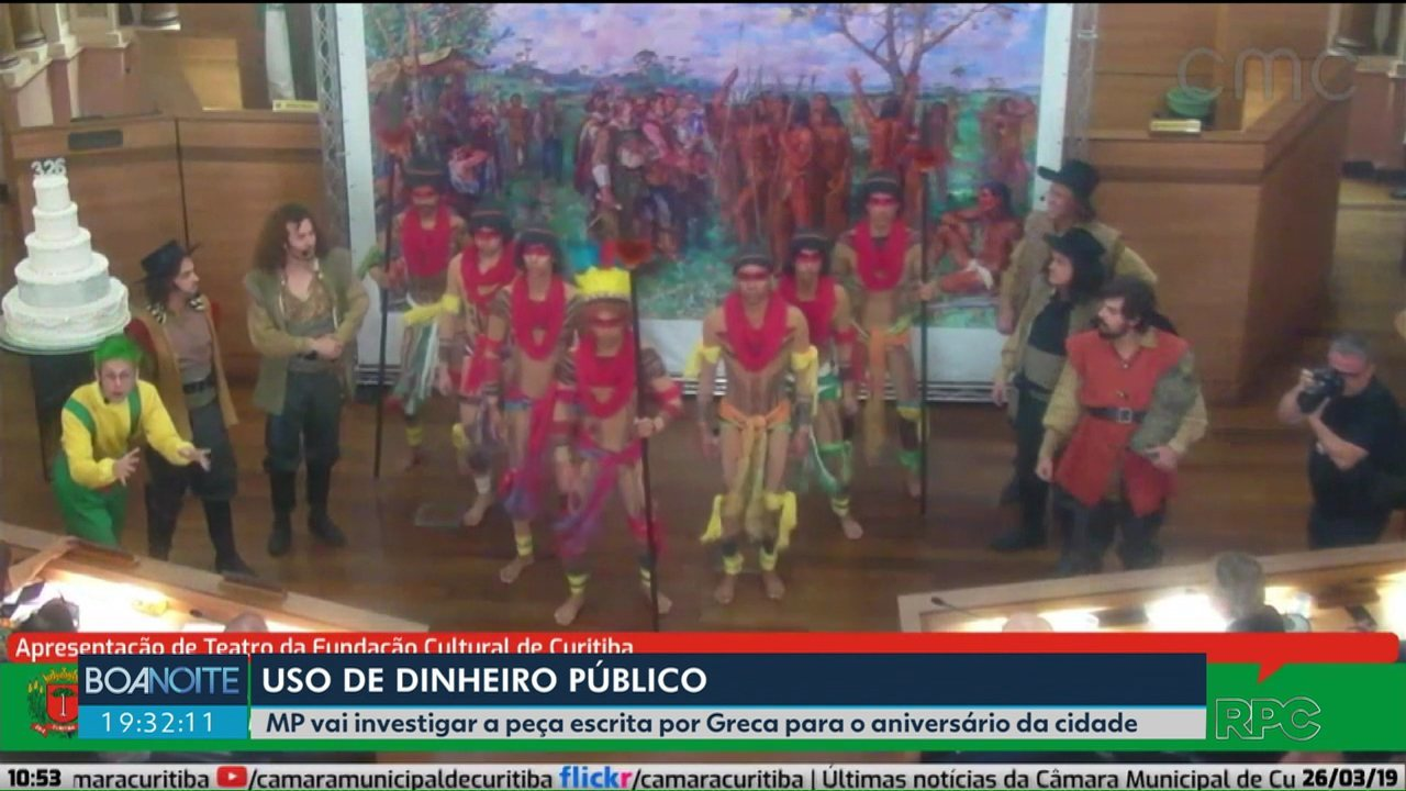 Ministério Público vai investigar peça escrita por Greca para o aniversário de Curitiba