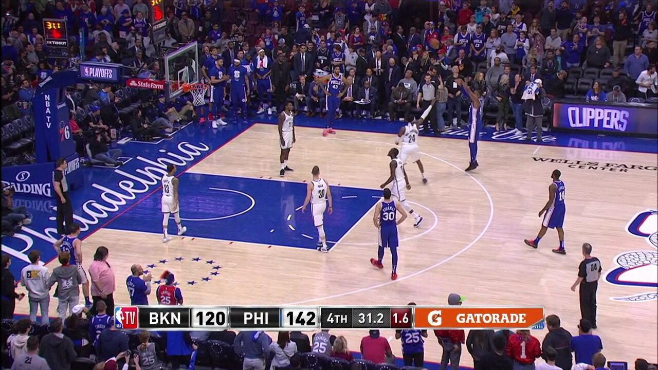 Melhores momentos: Brooklyn Netes 123 x 145 Philadelphia 76ers pela NBA