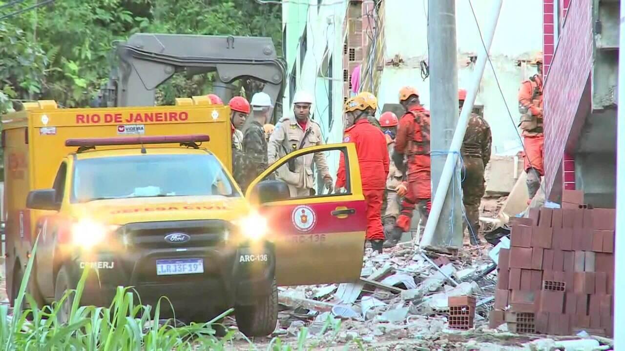 Sobe para 15 o número de mortos no desabamento de dois prédios na Muzema (RJ)