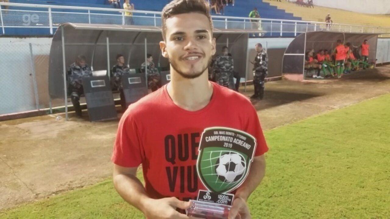 """""""Sentimento é de gratidão"""", diz autor do gol mais bonito do 1º turno do Acreano"""