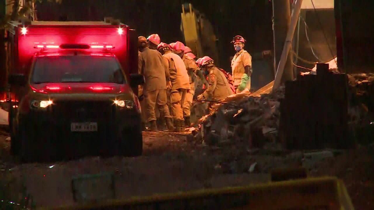 Bombeiros encontraram mais 4 corpos no desabamento dos prédios na Muzema