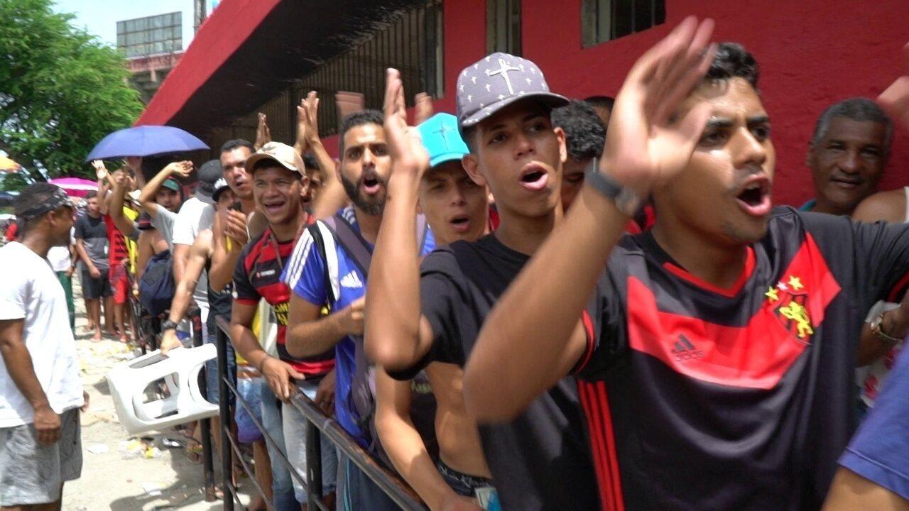 Muita gente correu para a Ilha do Retiro nesta quarta para garantir ingresso da final
