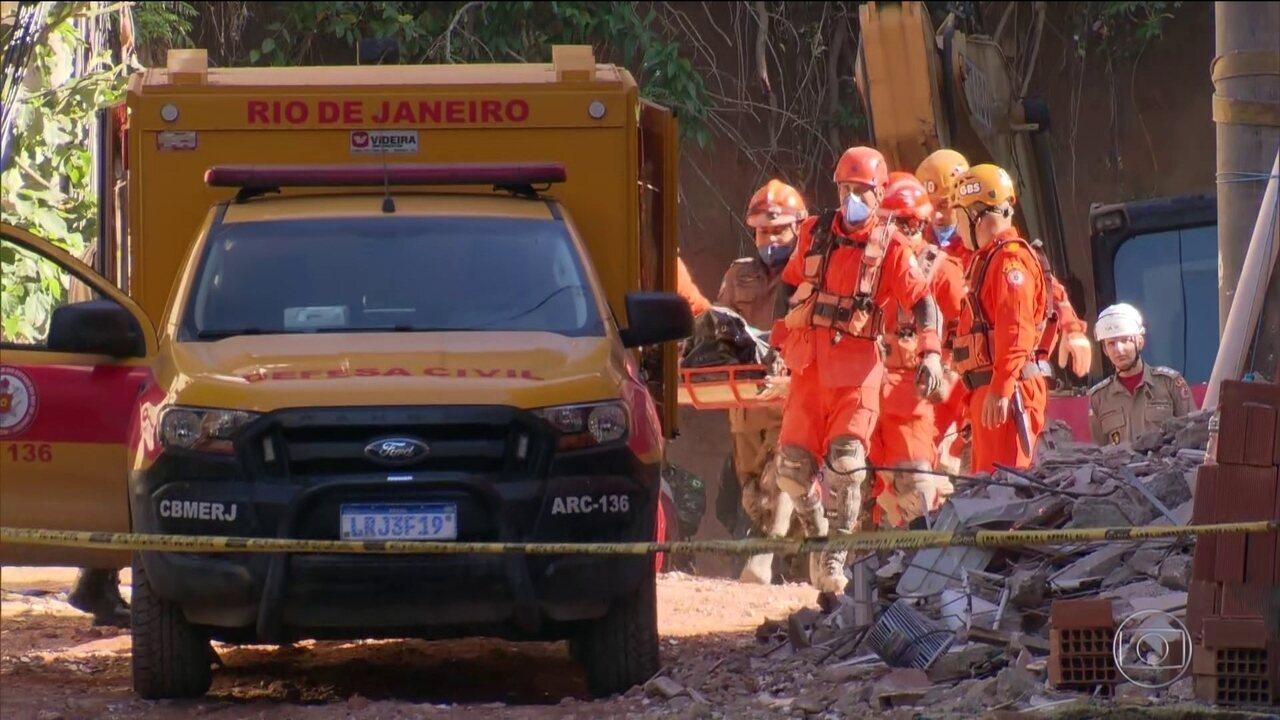 Sobe para 20 número de mortos em desabamentos na Muzema