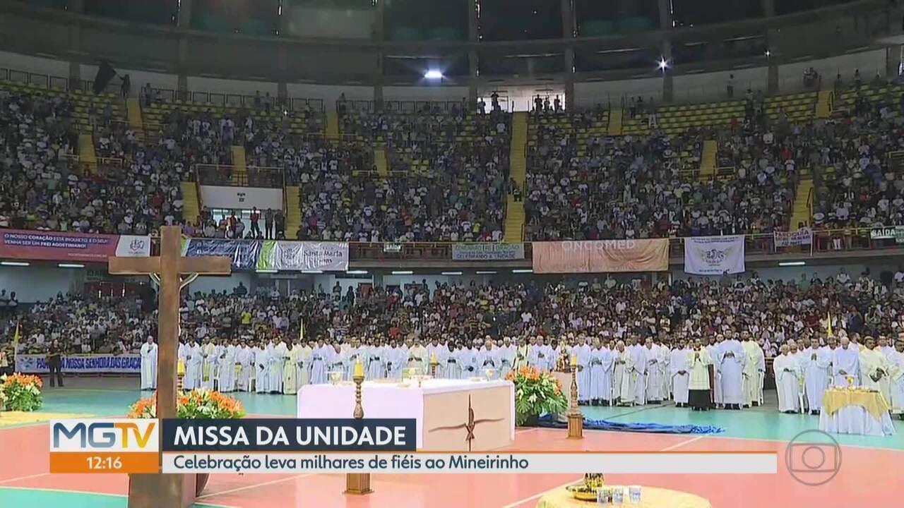 Vítimas de Brumadinho são homenageadas na Missa da Unidade, em BH