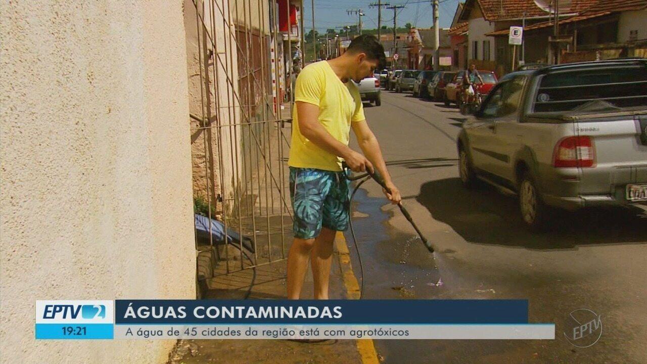Levantamento aponta presença de agrotóxicos em água de 45 cidades do Sul de Minas
