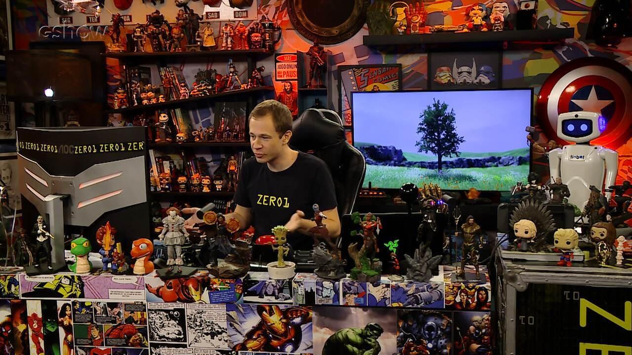 Veja gameplay estendido de 'Tree Simulator' com Tiago Leifert no 'Zero1'