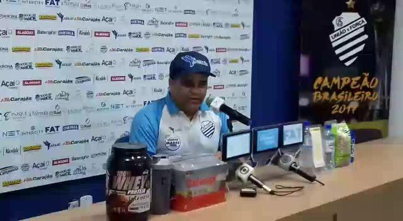 Técnico Marcelo Cabo confirma que CSA terá desfalque na final do Alagoano
