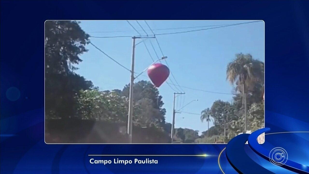 Moradores registram soltura de balões na região de Sorocaba e Jundiaí
