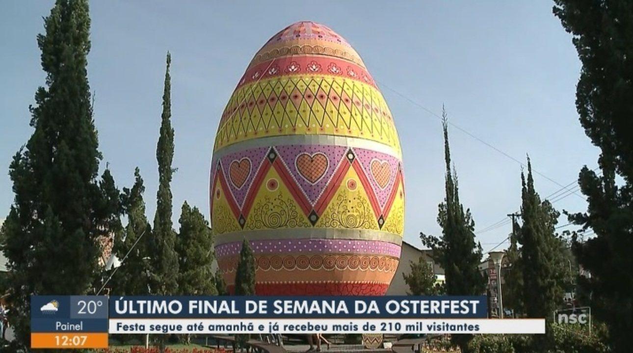 Com maior ovo decorado de Páscoa do mundo, 11ª Osterfest termina neste domingo em Pomerode