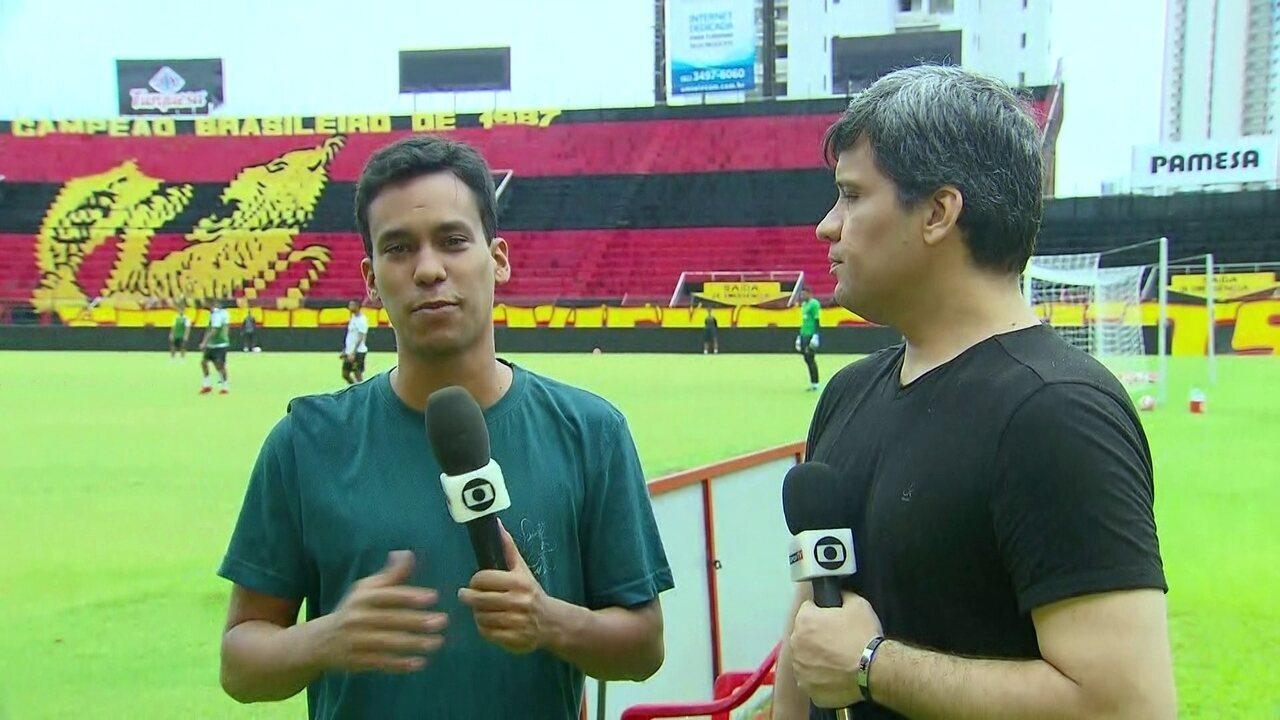 Em treino aberto do Sport, Diogo Marques e Cabral Neto grande final do Pernambucano