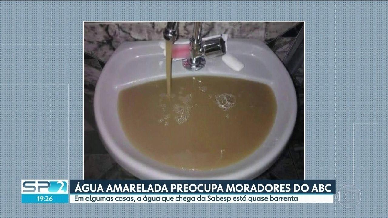 Moradores do ABC estão preocupados com a qualidade da água que sai das torneiras