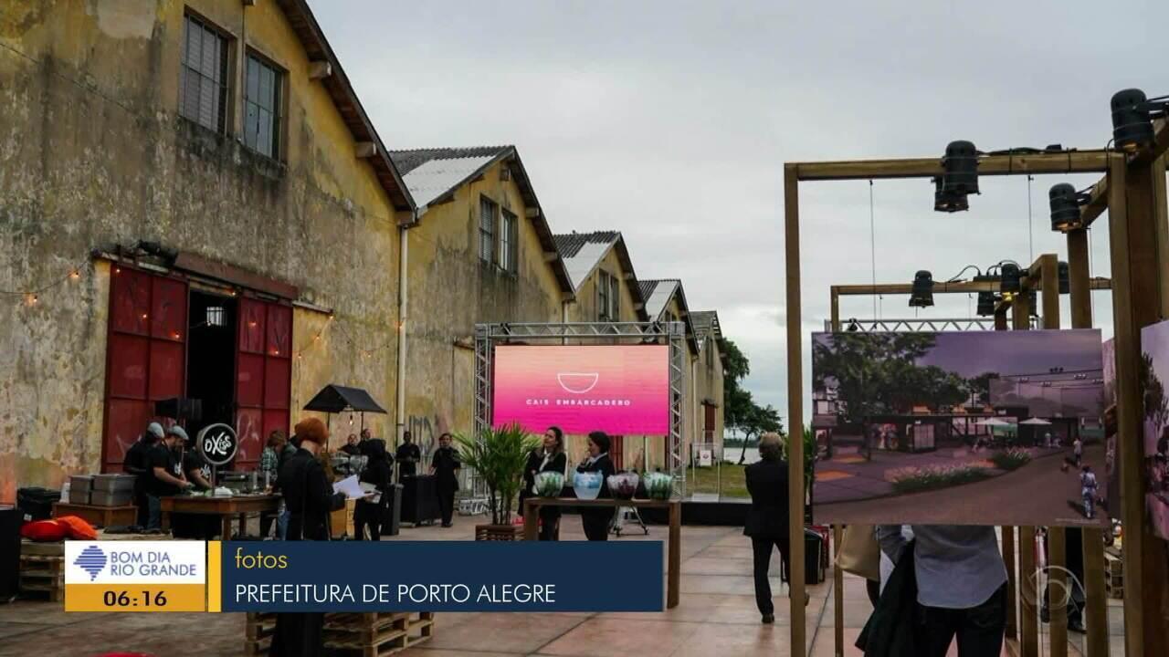 Em Porto Alegre, Cais do Embarcadero tem previsão de conclusão para outubro de 2019