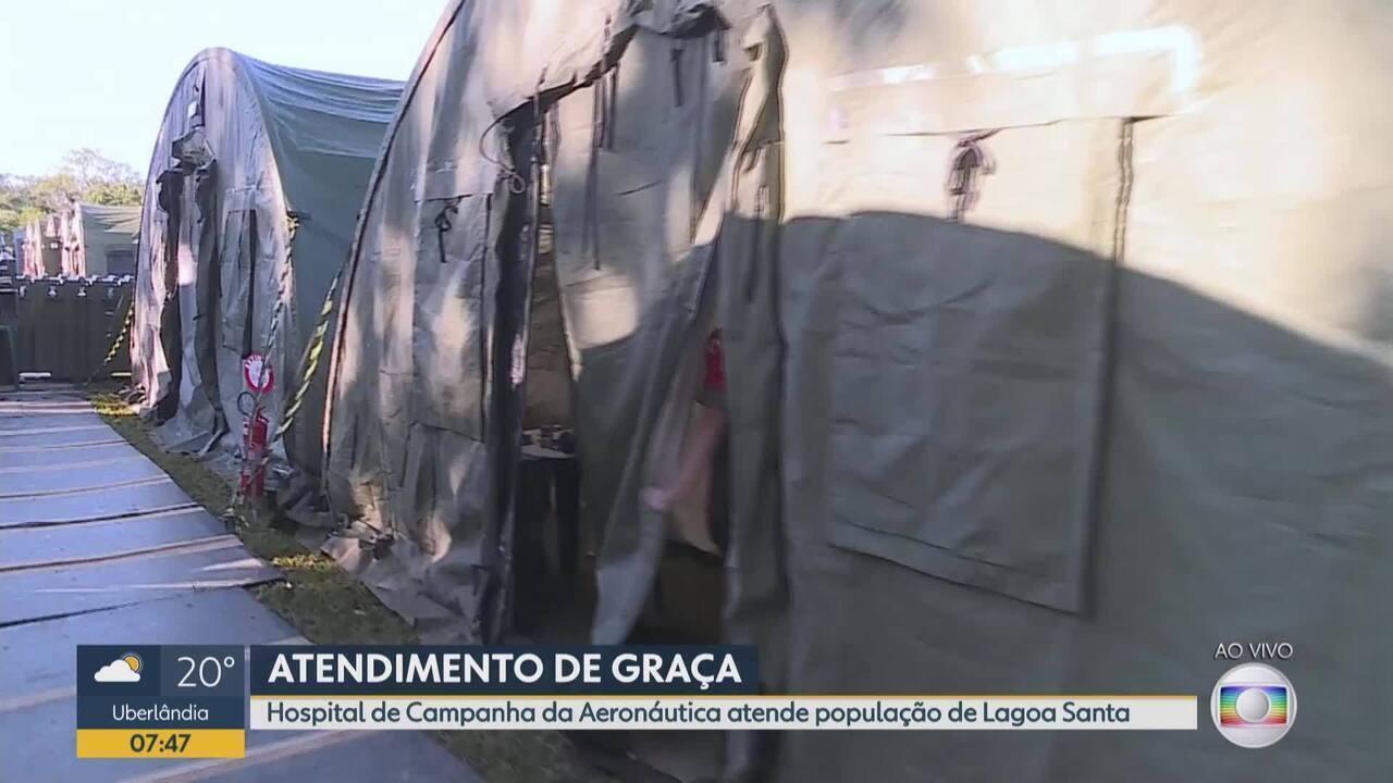 Hospital de Campanha da Aeronáutica está em Lagoa Santa, na região metropolitana