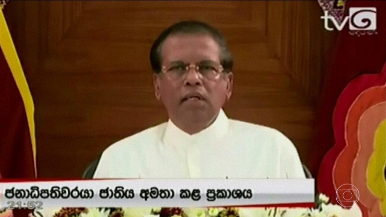Após atentados, presidente do Sri Lanka anuncia reestruturação de órgãos de segurança