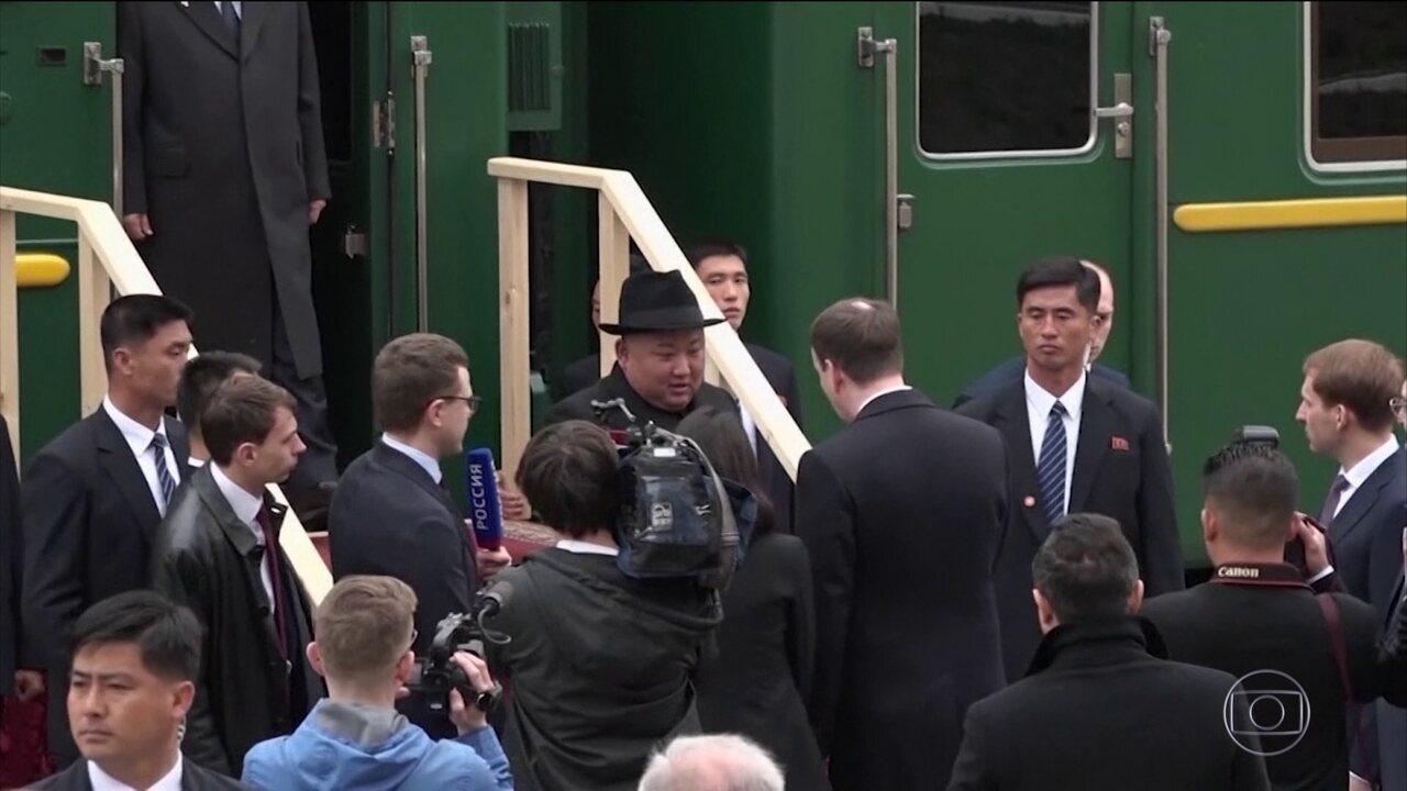 Ditador da Coreia do Norte chega à Rússia para primeiro encontro com Putin