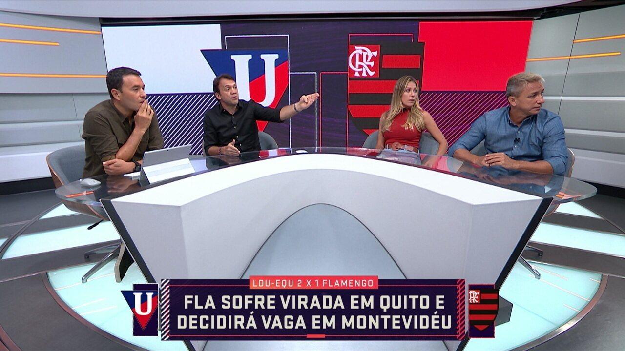 Comentaristas analisam a derrota do Flamengo para LDU na Libertadores