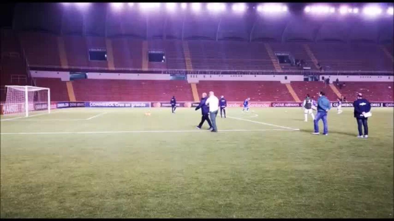 Felipão se irrita com protesto de torcedores do Palmeiras no Peru