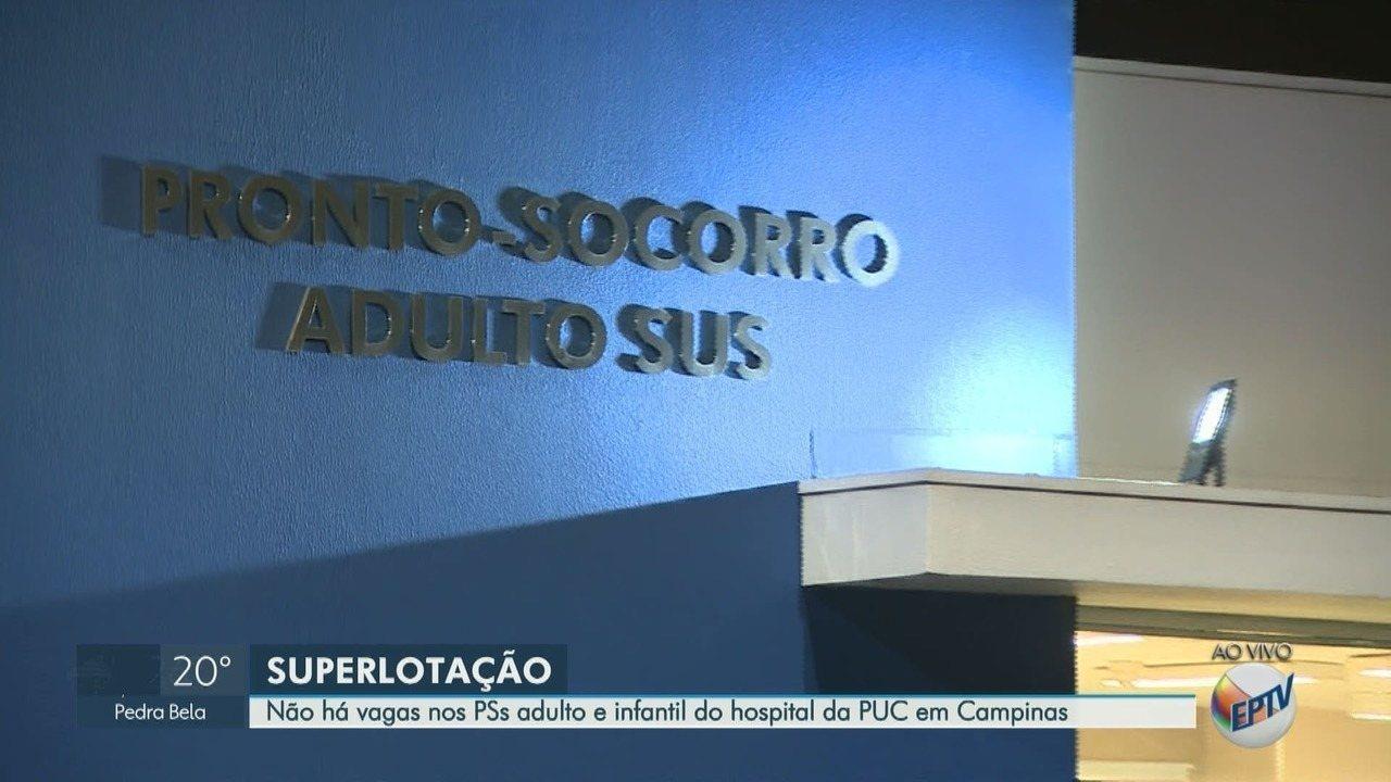 Hospital da PUC registra superlotação em prontos-socorros infantil e adulto
