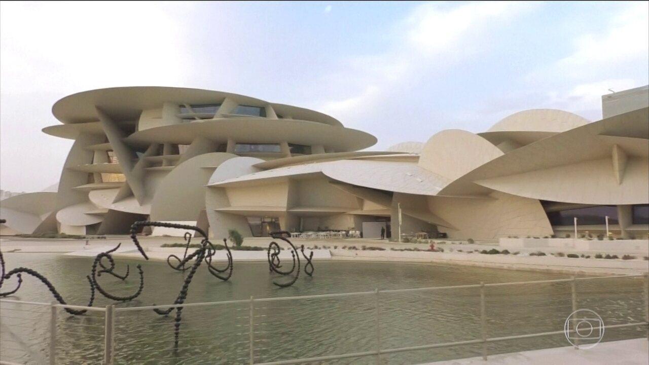Museu Nacional do Catar impressiona pela grandiosidade e beleza