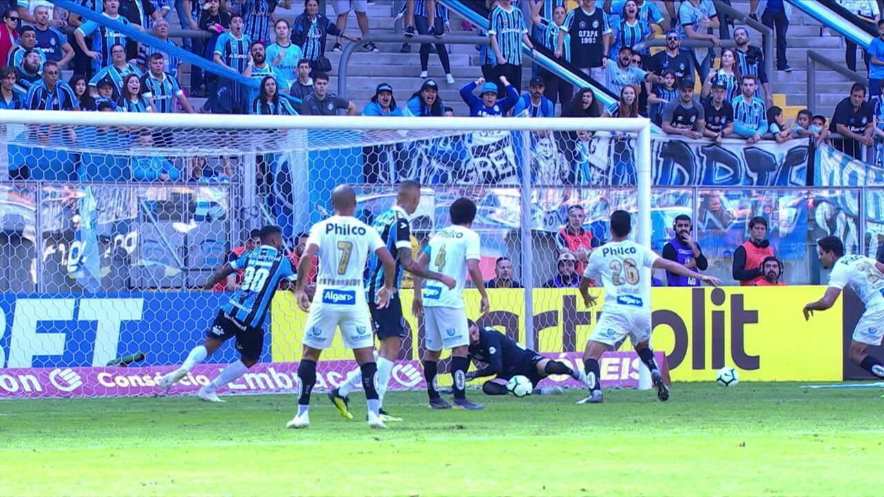 Melhores momentos: Grêmio 1 x 2 Santos pela 1ª rodada do Brasileirão 2019