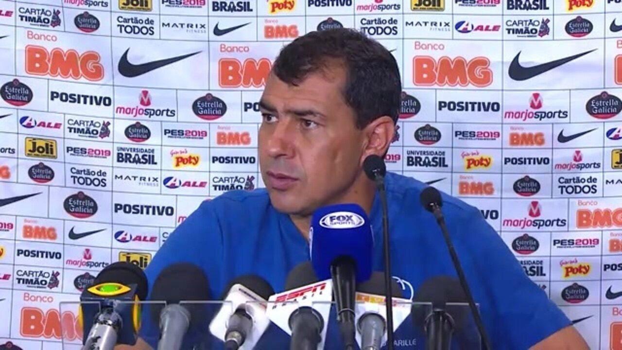 Fábio Carille analisa a derrota do Corinthians para o Bahia