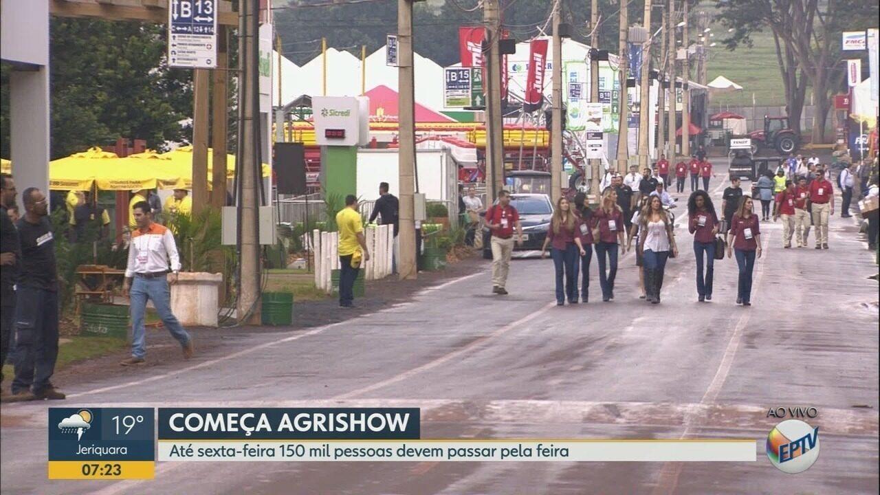 Até sexta-feira, 150 mil pessoas devem passar pela Agrishow em Ribeirão Preto