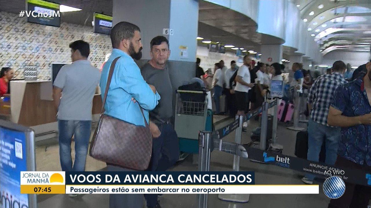 Voos da Avianca são cancelados no aeroporto de Salvador