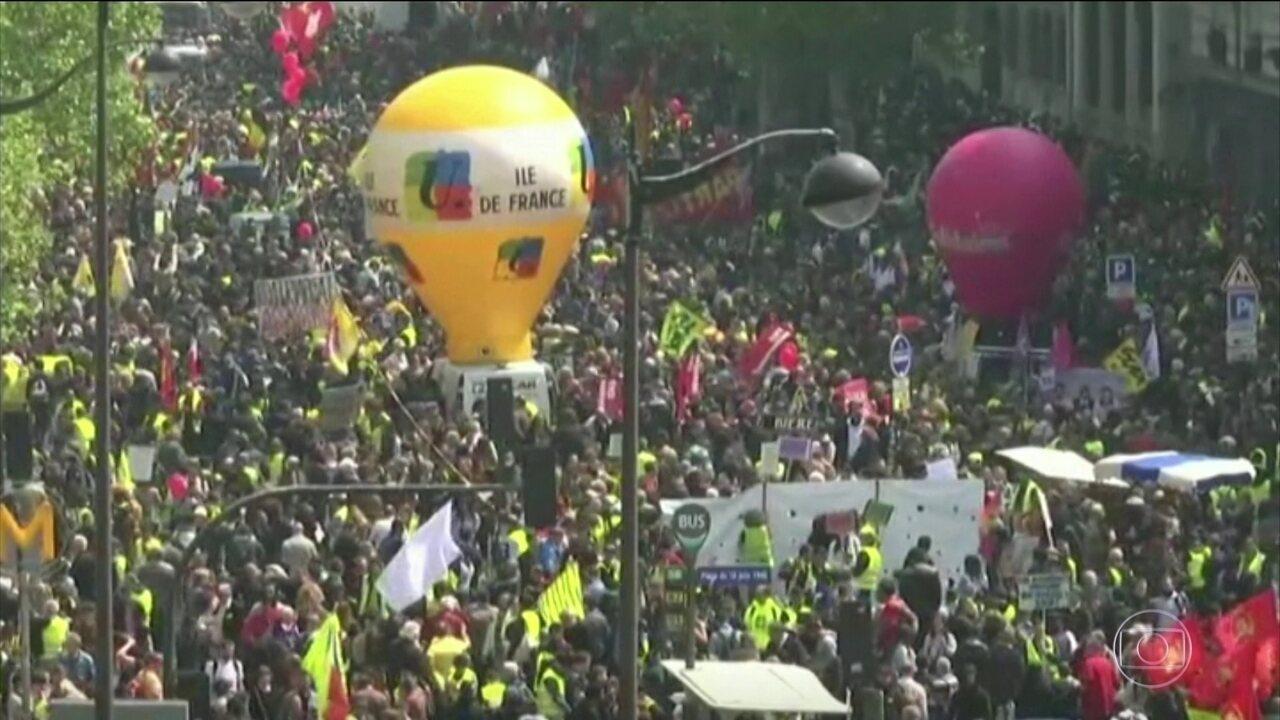 França tem dia marcado por protestos em Paris