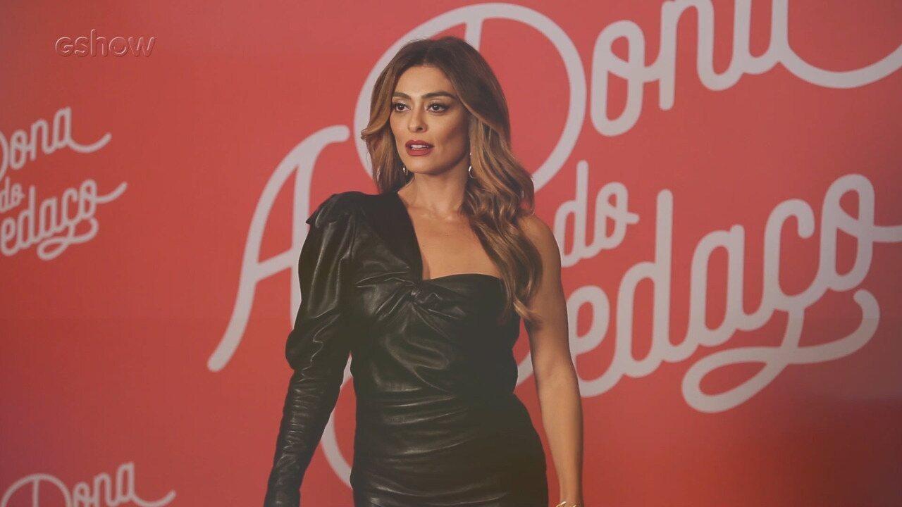 Confira os looks do elenco no evento de lançamento de 'A Dona do Pedaço'