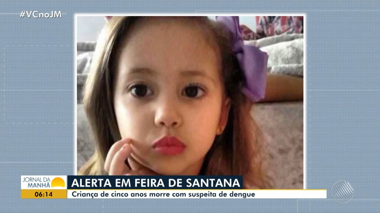Criança de cinco anos morre com suspeita de dengue em Feira de Santana