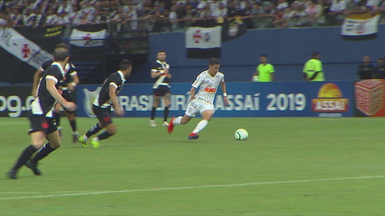 Os gols de Vasco 1 x 1 Corinthians pela 3ª rodada do Brasileirão 2019