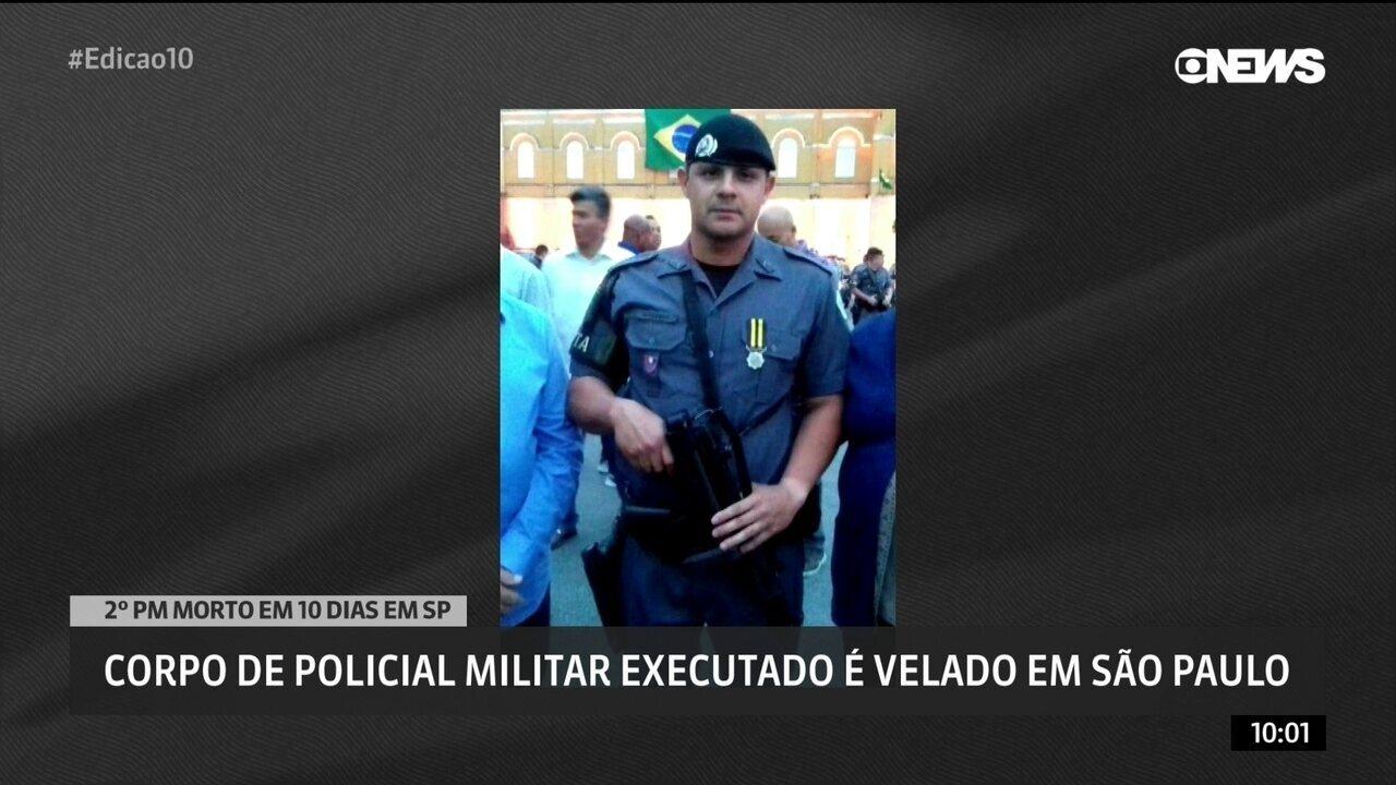 Corpo de policial militar executado é velado em São Paulo