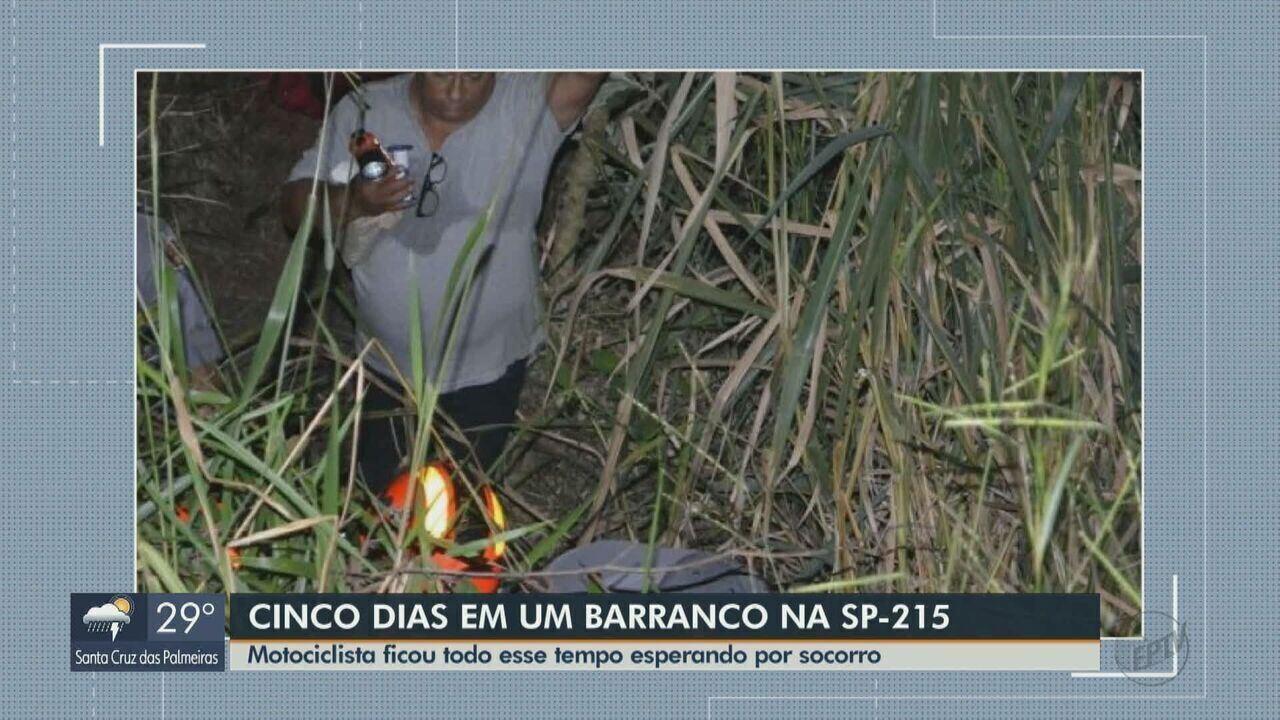 Homem é encontrado vivo em barranco cinco dias após acidente na SP-215 em Ribeirão Bonito