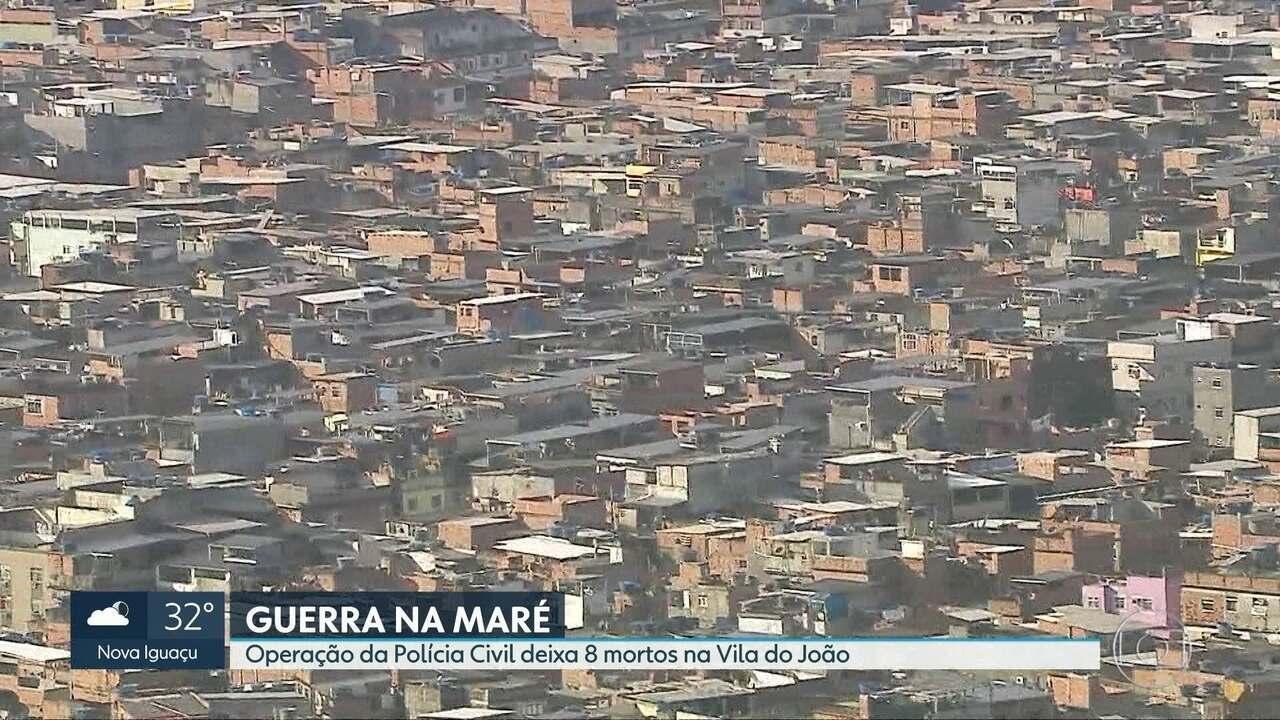 Oito traficantes são mortos pela Polícia Civil na Maré
