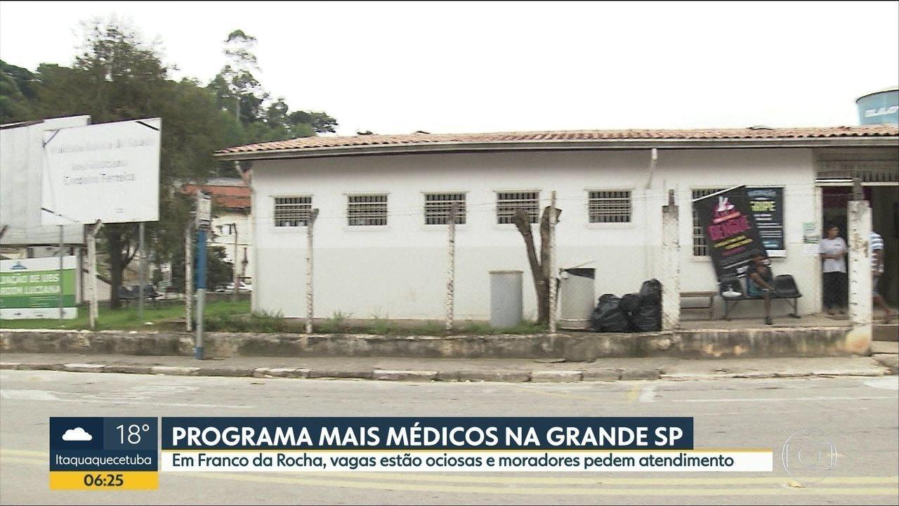 19 cidades da Grande São Paulo estão com vagas ociosas do Programa Mais Médicos