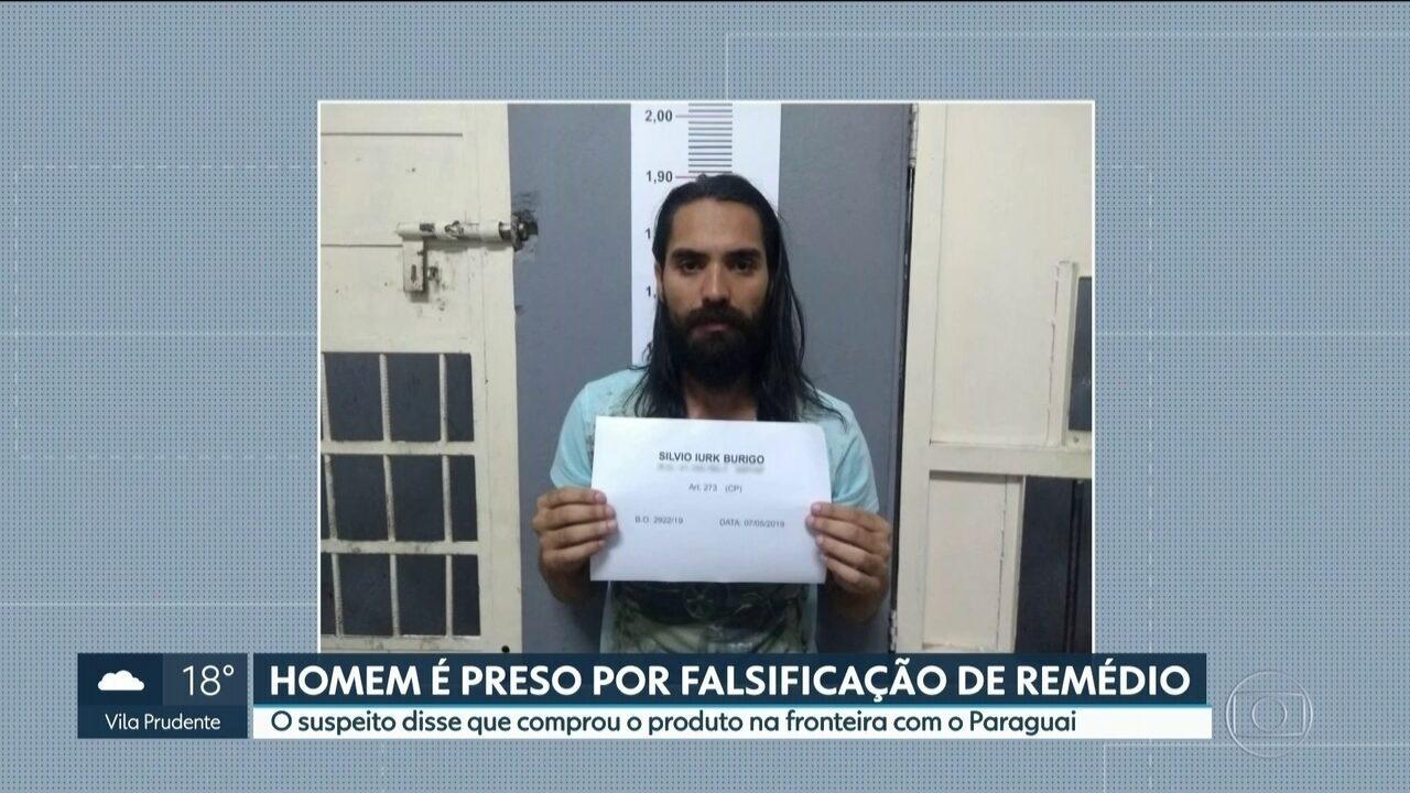Homem é preso em Diadema por falsificação de remédio