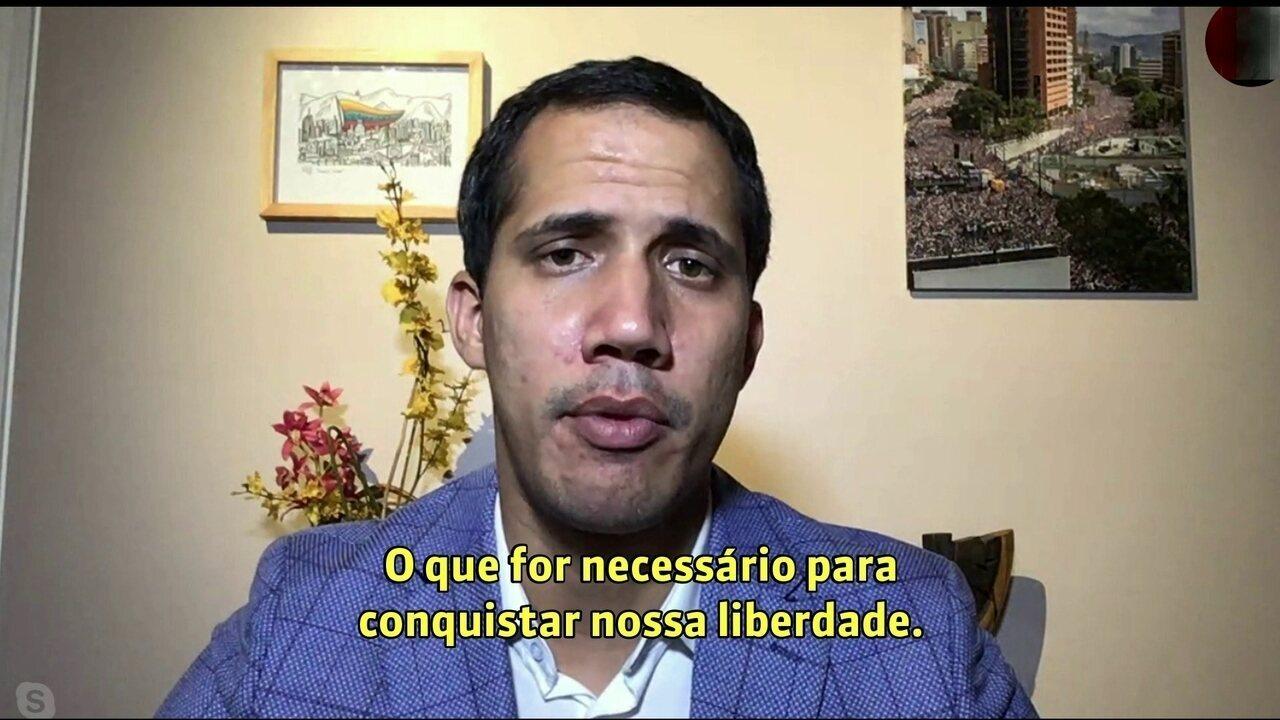 Resultado de imagem para Guaidó nega que a oposição a Maduro esteja dividida