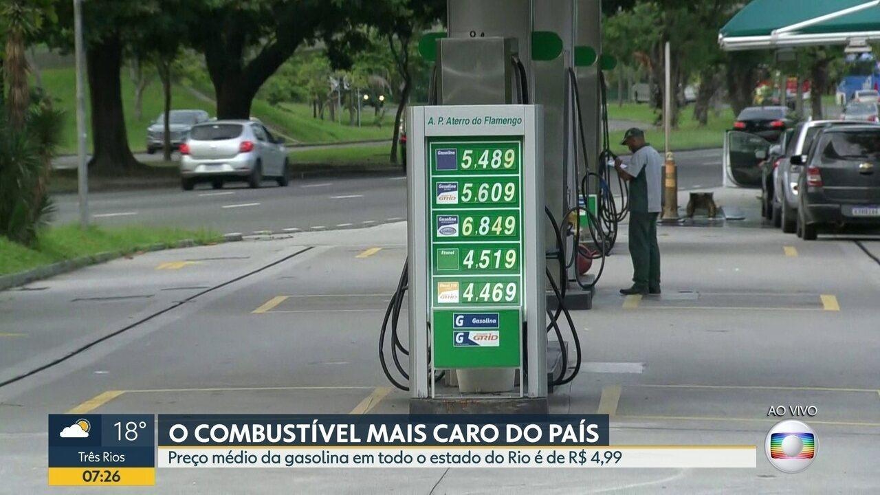 Preço da gasolina no estado do Rio é o mais caro do país