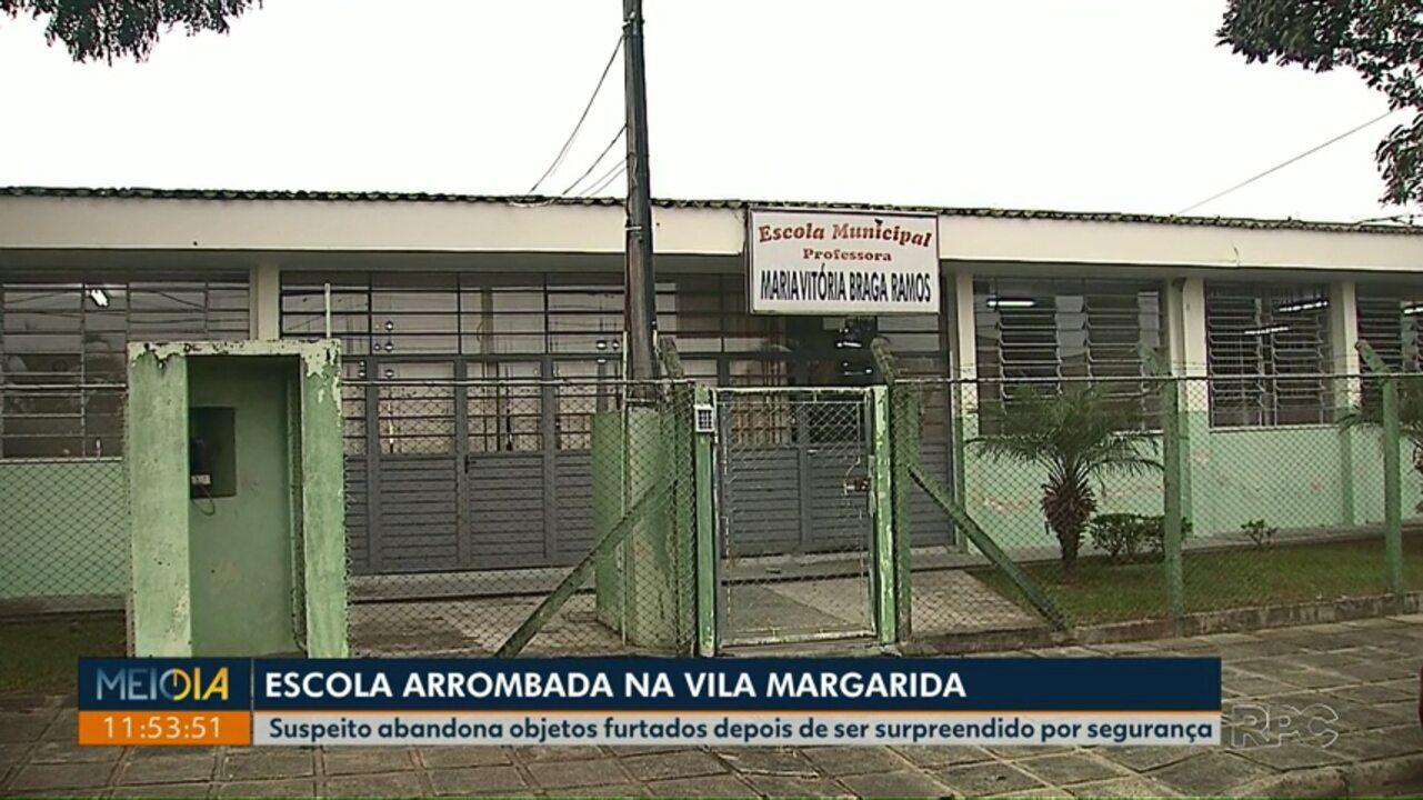 Escola municipal na Vila Margarida, em Ponta Grossa, é arrombada