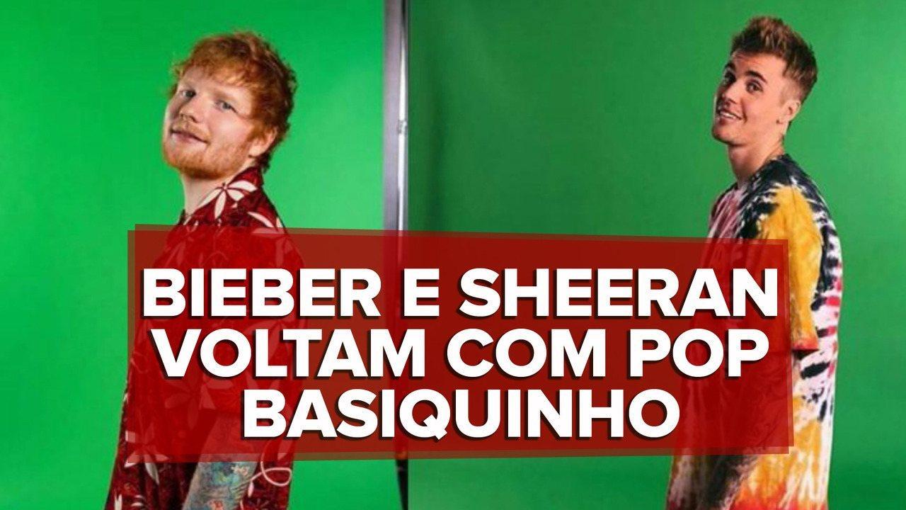 Justin Bieber and Ed Sherran a spear: