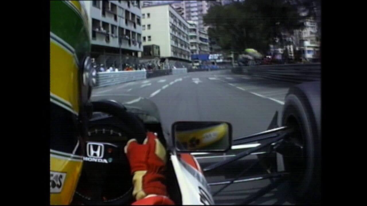 Volta da pole position de Ayrton Senna em Mônaco, em 1990