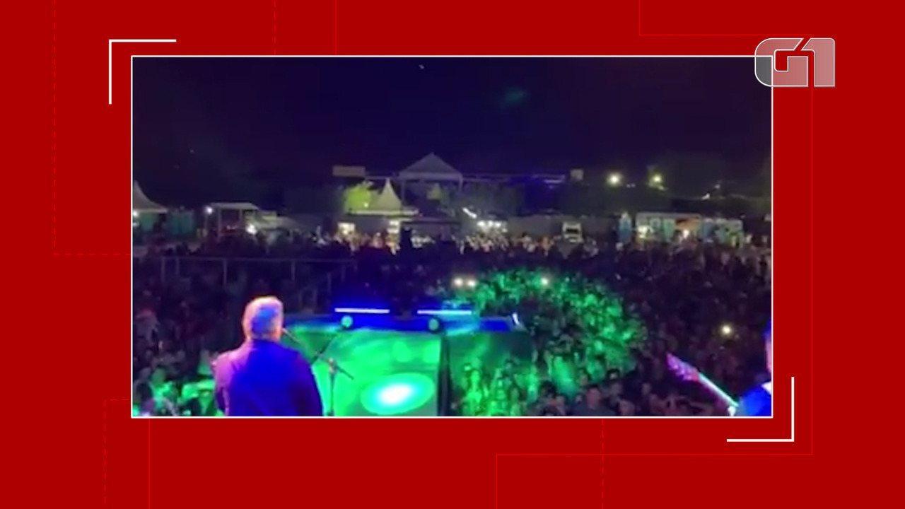 Armando Batista postou um vídeo nas redes sociais do show que fez em Jequié